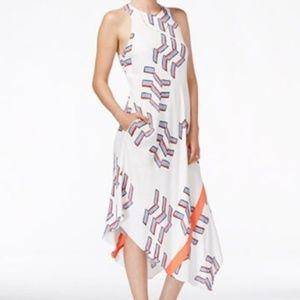 Rachel Roy White Asymmetrical Dress Sz M